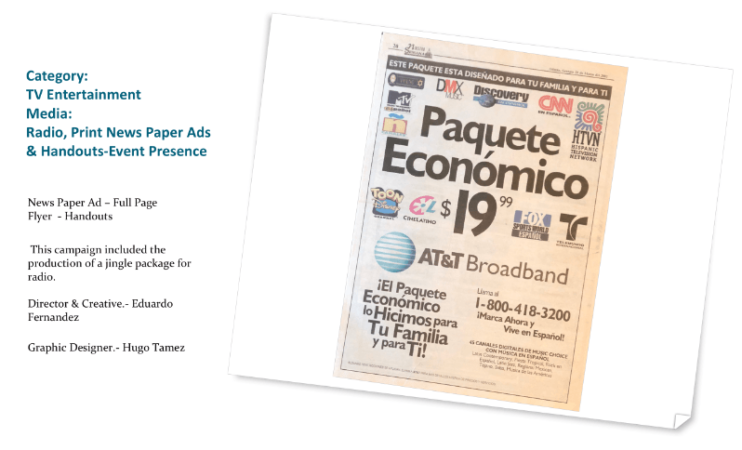 AT&T News Paper Ad