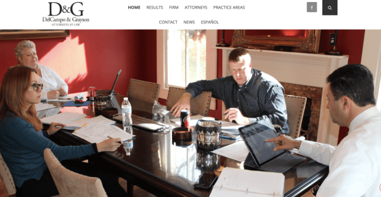 DelCampo & Grayson Law Firm Website Design